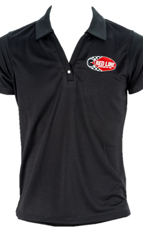 Women's Black Polo Shirt Front